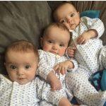 Az ultrahangon is látták, hogy hármasikrek lesznek, születésükkor mégis egy igazán ritka jelenség szemtanúi lehettek
