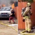 Lángoló házába rohant be a családapa, hogy kutyáját megmentse a biztos haláltól