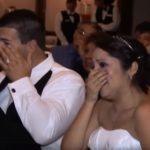 A menyasszonynak és a vőlegénynek is patakokban folytak a könnyei az örömapa meglepetése láttán