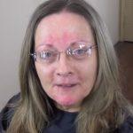 A kipirosodott arcú, szemüveges hölgy csak úgy vállalta az átalakulást, ha természetes marad: mínusz 20 év lett a vége