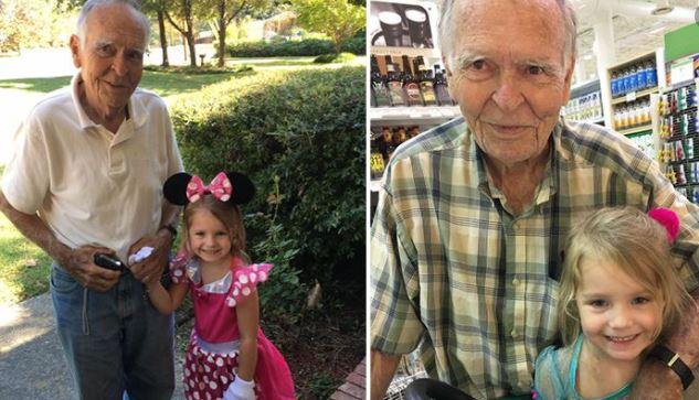 A 4 éves kislány öregnek nevezi a mogorva bácsit: az idős férfi reakciója kincset ér, nem véletlen készültek ezek a fotók